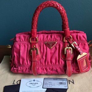 Pink Prada tessuto gaufre bag excellent condition